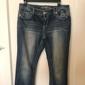 Medium wash jeans by Maurice's